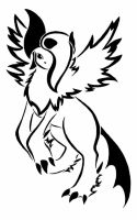 Mega Absol Tribal by Zanture-Angel
