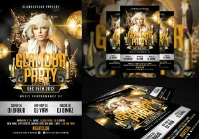 Glamour Party Flyer Template by angkalimabelas