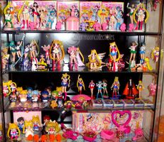 Sailor Moon Toy Figures Shelf by onsenmochi