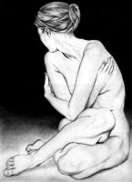 Nude female, graphite by copperrein