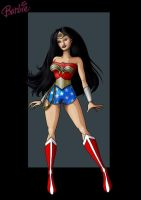 wonder woman barbie by nightwing1975