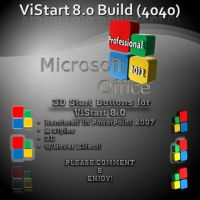 3D Office Starb Orbs for ViStart by creativecraig