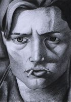 Leonardo Dicarpio sketch-Mid April 2012 by heath23windle