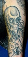 tat on the inside of my right arm by PAlisauskas