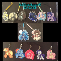 [Con Leftovers] - Acrylic Charms by TehButterCookie