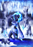 Within the icy cave by Lazy-a-Ile