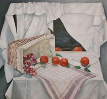 Basket with fruits by Oddel