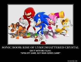 Sonic Boom Wii U/3DS Demotivational by lightyearpig