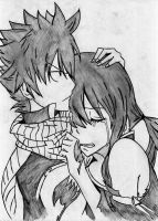 Natsu and Lucy by Crime000