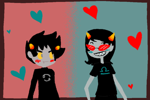 Karkat and Terezi by Breadbones