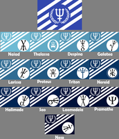 Neptune System Flags by 1Wyrmshadow1