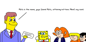 Lionel Hutz Meeting Elvis, SpongeBob, Wally and St by MikeEddyAdmirer89