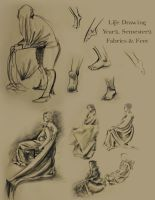 Life Drawing Fabrics and Feet by new-moon-night
