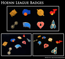 Hoenn League Badges by BklynSharkExpert