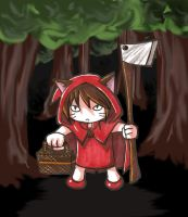 Little Red Wolf Riding Ax Hood by IronicChoice