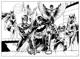DCNU Bat Family Inks by devgear