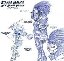 Bianka 2012 Armor Design by largominus2004