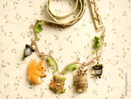 The Fairy Forest Necklace by allim-lip