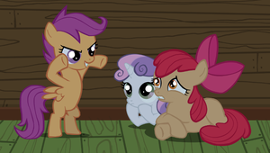 Cutie Mark Crusaders Ghost Stories by Ketokultasiipi