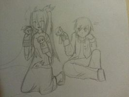 Hand Puppets Sketch by Jade-the-X9ian