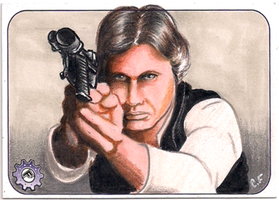 Star Wars PSC sketch card Han Solo by chrisfurguson