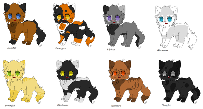 Warrior adoptables by Ask-Hazelfoot