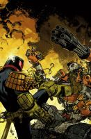 Judge Dredd cover #3 color by nelsondaniel