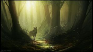 Lonely Wolf by artificialdesign