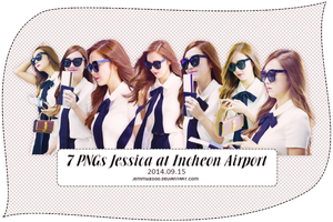 [Render Pack] Jessica SNSD at Airport - 7 PNGs by jemmy2000