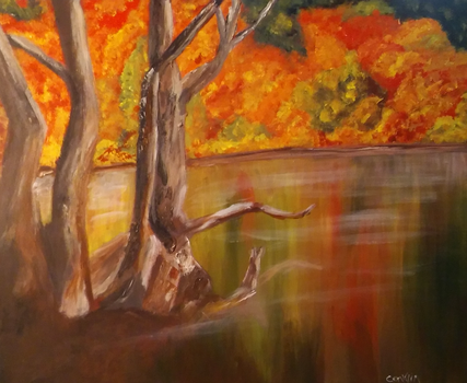 Fall Study - Acrylic on Canvas by MikeConklinArtist