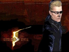 Wesker broken sunglasses by monkeygigabuster