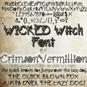 wicked font