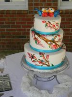 Chirp wedding cake by see-through-silence