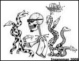 Snakes and Death by Insanemoe