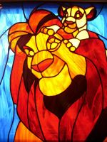 Lion King Stained Glass by PheaWolf