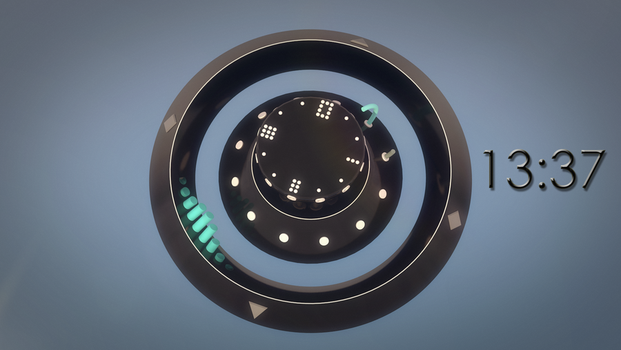 Abstract clock [ANIMATION] by FearTheEC