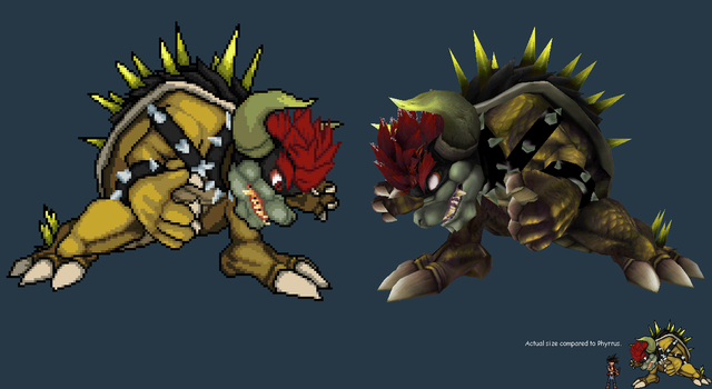 Giga Bowser Sprites Smash Bros related spr...