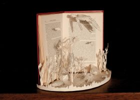 The Little Mermaid Book Sculpture 3 by AnemyaPhotoCreations
