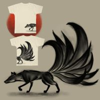Threadless Design - Kitsune by superpsyduck