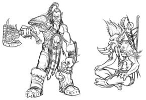 Daily Sketches 08 - Warcraft by Predaguy