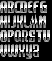 TheDraw ANSI Font 'Mercury' by roy-sac