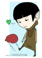 BB Spock with a Balloon by tammalee
