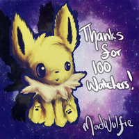 JOLTEON Thanks for 100 watchers!! :D by MadWulfie