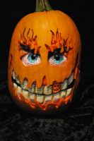 Painted pumpkin by kissel71