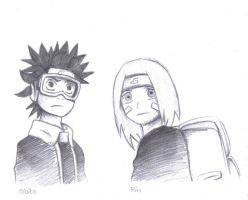 Obito and Rin by Pii-wing
