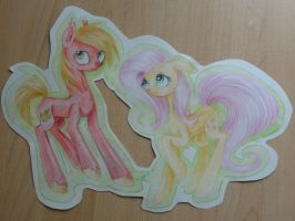 Fluttershy and Mac by MysteryLightning
