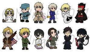Chibi Collection Vers1 by munworks
