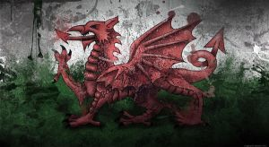 Welsh Flag Wallpaper by GaryckArntzen