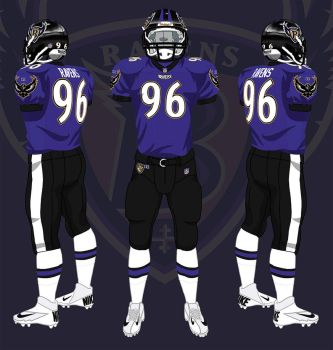 Baltimore Ravens Through the Years by CoachFieldsOfNOLA