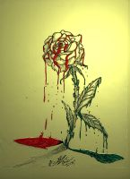 Bleeding Rose by Somnium-Draco